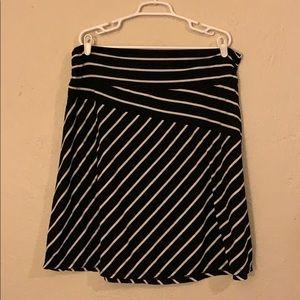 Black Skirt w/White Stripes